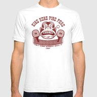 King Kong Ping Pong Mens Fitted Tee White SMALL