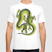 japanese dragon 9 Mens Fitted Tee White SMALL