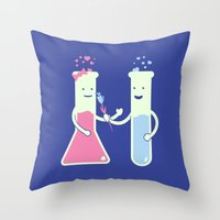 They Have Chemistry  Throw Pillow