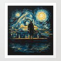 Starry Fall (Sherlock) Art Print