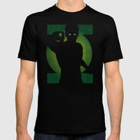 SuperHeroes Shadows : Green Lantern Mens Fitted Tee Black SMALL