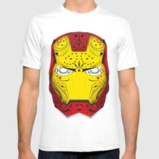 Sugary Iron Man Mens Fitted Tee White SMALL
