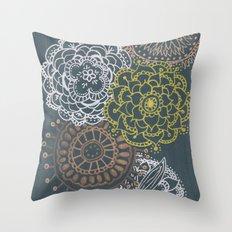 Metallic Mandalas Throw Pillow