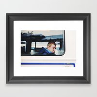 Man In Tram, Goteborg Sw… Framed Art Print