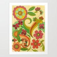 Magic Floral Art Print