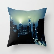 Philly glow Throw Pillow