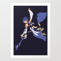 Kingdom Hearts - Aqua Art Print