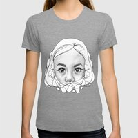 Through a Child's Eyes Womens Fitted Tee Tri-Grey SMALL