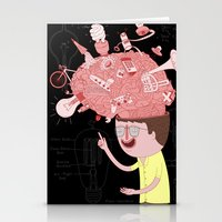 brain Stationery Cards featuring Brain! by gal shkedi