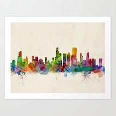 Chicago City Skyline Art Print
