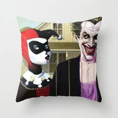 Why So American Gothic? Throw Pillow