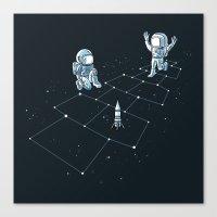 Hopscotch Astronauts Canvas Print