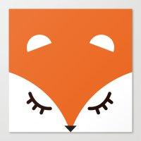 Fox Minimal Canvas Print