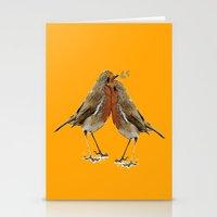 Cute Birds Stationery Cards