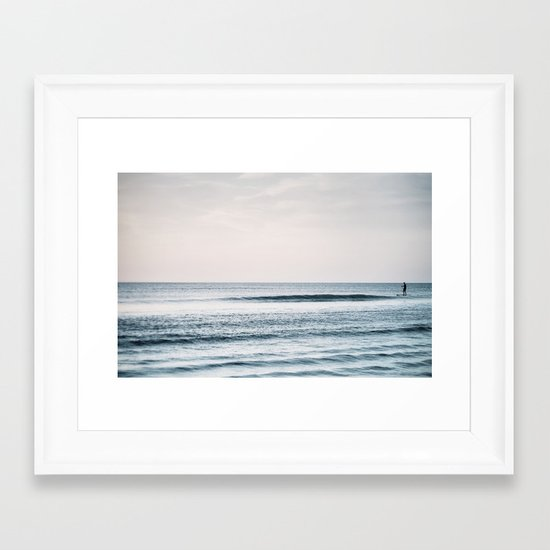 Peace and Ocean Framed Art Print