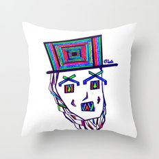 Colored Lincoln Throw Pillow