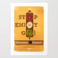 STOP, ENJOY, GO! Art Print