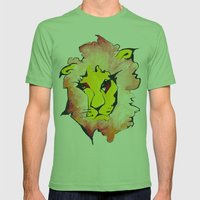 LION Mens Fitted Tee Grass SMALL