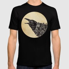 CROW-ded Mens Fitted Tee Black SMALL