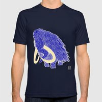 Mammoth Mens Fitted Tee Navy SMALL