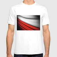 flag of Poland Mens Fitted Tee White SMALL