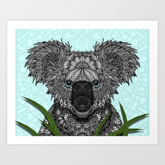 Koala Art Print By Artlovepassion Society6