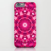 iPhone & iPod Case featuring Pink mandala of the stones by Pink grapes