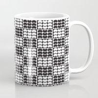 Hob Nob Black White Quarters Mug