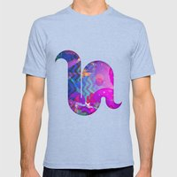 Illusion Mens Fitted Tee Tri-Blue SMALL