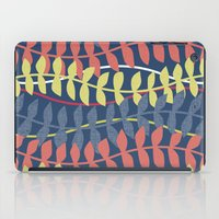 seagrass pattern - blue red yellow iPad Case