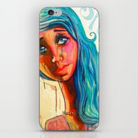 She'd be standing next to me.  iPhone & iPod Skin