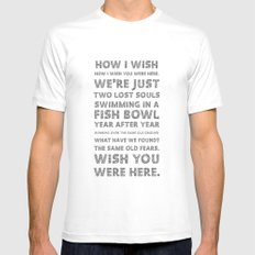 Wish you were here SMALL White Mens Fitted Tee