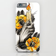 Hand holding CANDLE - tattoo iPhone 6s Slim Case