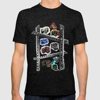 Iconic Cameras! Mens Fitted Tee Tri-Black SMALL