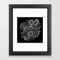 Neon Lines Framed Art Print