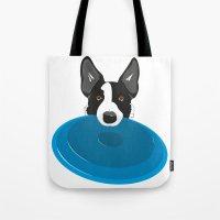 Border Collie - Disc Dog 2 Tote Bag