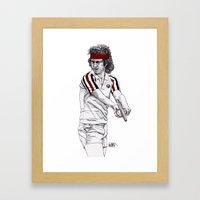 Tennis Mcenroe Framed Art Print