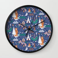 Bear camp Wall Clock