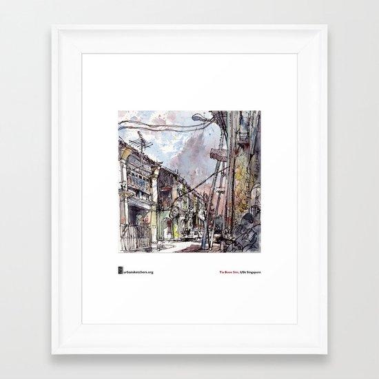 "Tia Boon Sim, ""The Love Lane, Penang, Malaysia""  Framed Art Print"