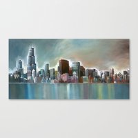 Chicago At Noon Canvas Print