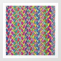 Rainbow Braids Art Print