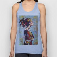Lena- beautiful woman Unisex Tank Top
