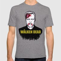 THE WALKEN DEAD Mens Fitted Tee Tri-Grey SMALL