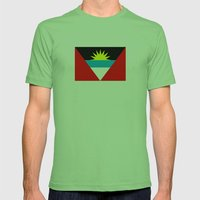 Antigua and Barbuda country flag Mens Fitted Tee Grass SMALL