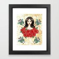 Flutter on by Framed Art Print