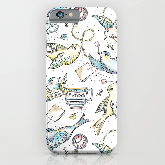 Twittering Tea Party iPhone & iPod Case