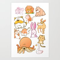Animals! Art Print