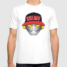 Creative Robot Mens Fitted Tee SMALL White