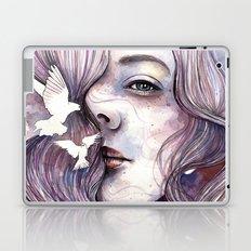 Dreams of freedom, watercolor artwork Laptop & iPad Skin