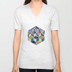Cube Geometric VIII Unisex V-Neck